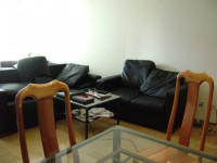 share the master room in a big modern apartment in city (male)