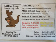CherrybrookでFamily Day Care