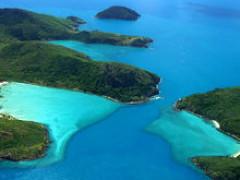 グレートバリアリーフが一望できる島