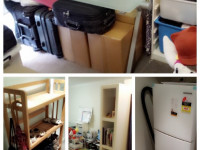 ST.LEONARDS >>> GARAGE SALE!! / SOFA BED+MATTRESS+FRIDGE+SHELF+TABLE+CHAIR
