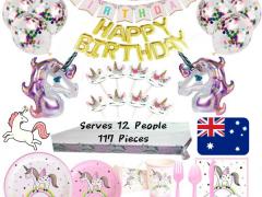 $70 ユニコーンBirthday Partyセット12人分