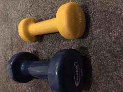 1kgと2kgの鉄アレイ(ダンベル)