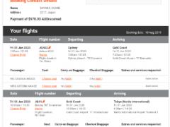 Jetstar 日本行き航空券2名分売ります