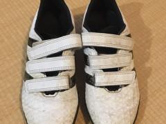 adidas サッカーシューズ(白Xゴールド)21㎝ $5