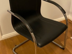 Black leather chairs