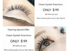 Mink Eyelash Extensions $99
