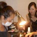 日本からの短期2カ月ネイル留学生!! 本日のレッスン 検定対策