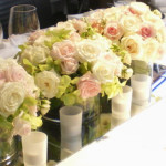 テーブルデコレーションのキャンドル、ミラー、花瓶 貸出し♪