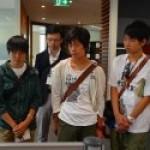 札幌開成高校生徒が会社訪問する