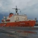 南極観測船・しらせがシドニーに寄港