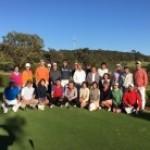 婦人ゴルフ部との共同開催で10月月例会を開催、25名でシドニー総領事館杯の優勝カップの争奪戦を繰り広げました