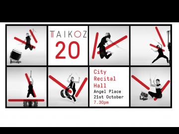 10月のシドニーイベント/オーストラリア発の和楽器アンサンブル集団「Taikoz」20周年記念コンサート