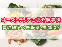 オーストラリアの紫外線事情「夏に摂るべき野菜・果物」は?