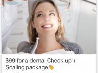 ●4月、歯の検診とクリーニング99ドル!レントゲン2枚迄とフッ素塗布