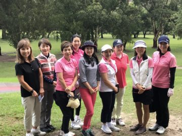 日本人会婦人ゴルフ部のハーフコンペを開催しました