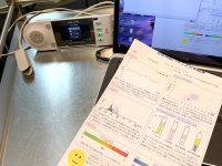 本日は自律神経測定器を使ったアロマ検診日です。