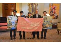 名古屋代表ランナー、シドニー市役所を表敬訪問