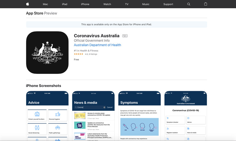 【必見】豪政府が新型コロナ関連情報をまとめたアプリをリリース