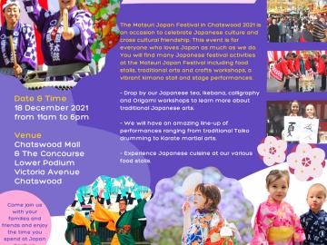 12月のシドニーイベント/チャッツウッドで日本の祭り開催【日程変更のお知らせ】